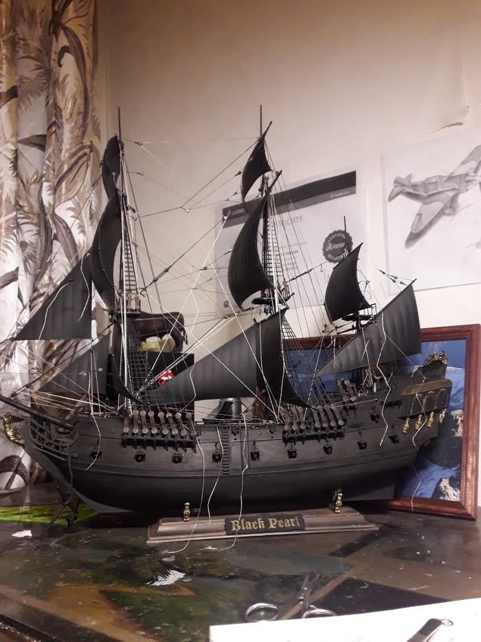 Черная Жемчужина Черная жемчужина, Корабль, Стендовый моделизм, Длиннопост