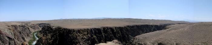 Панорама реки Чарын Чарын, Река, Алматинская область, Пустыня