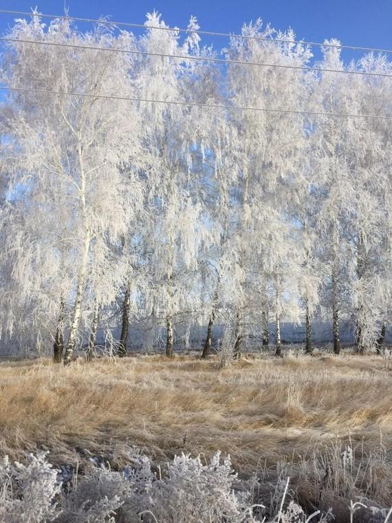 По дороге в деревню Зима, Осень, Трасса, Деревня