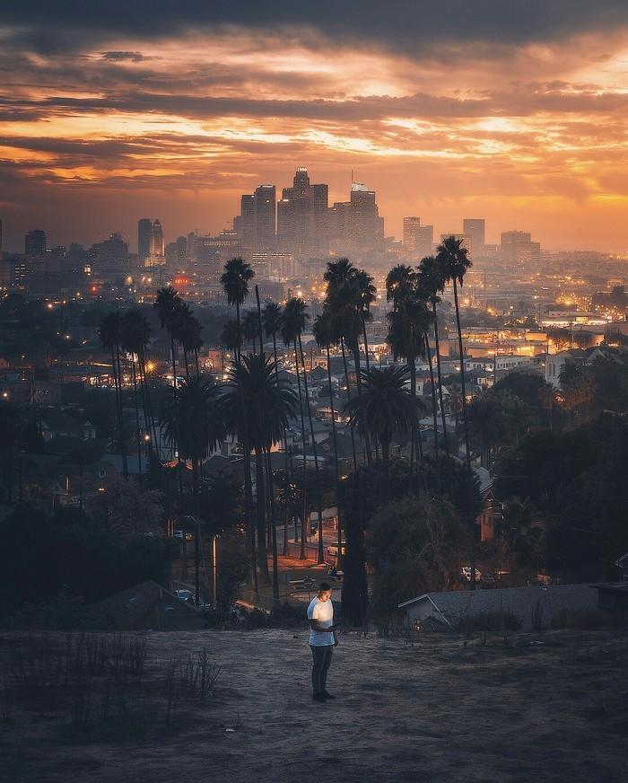 Лос-Анджелес на горизонте