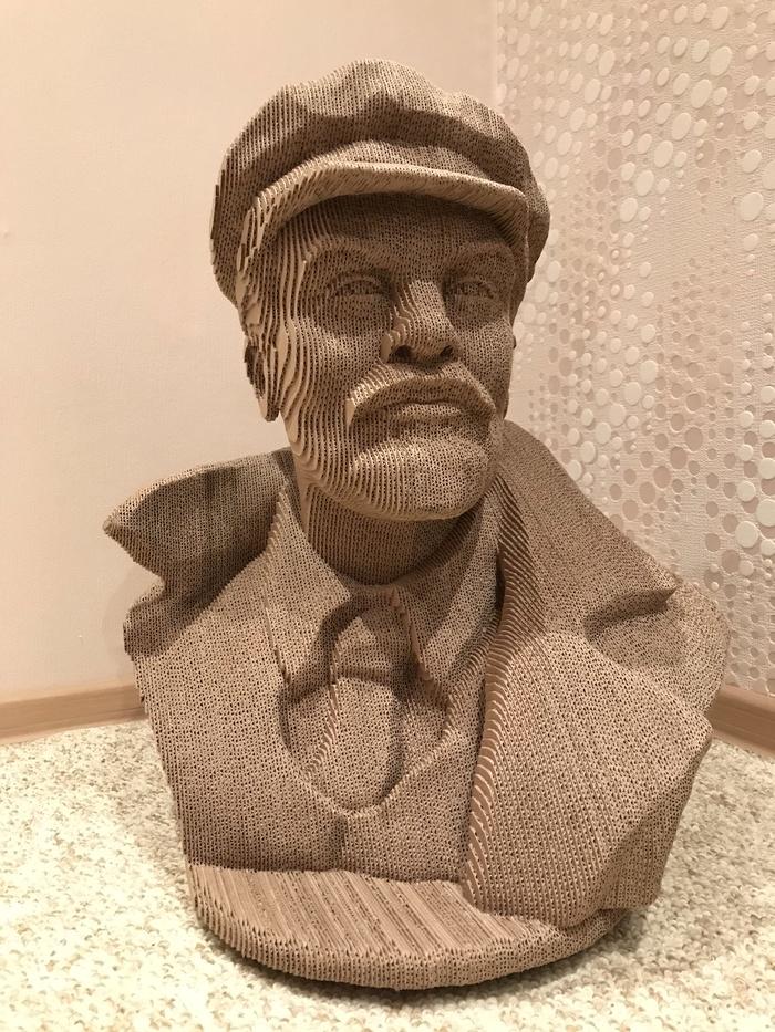 Гофроголовы, часть 4 (с мануалом) Handmade, Ленин, Рукоделие с процессом, Гофрокартон, Гофроголовы, Длиннопост, Картон