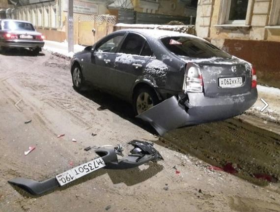 Когда ты не очень умный водитель ДТП, Иваново, Авария