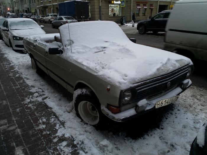 Пипец подкрался незаметно, но виден был издалека ... Авто, Волга, Зима, Кабриолет, Сугроб, Fail, Санкт-Петербург, Длиннопост