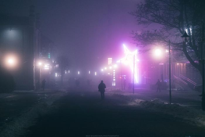 Бегущий по Могилёву 2018 Длиннопост, Фотография, Город, Ночь, Беларусь, Могилев, Nikon