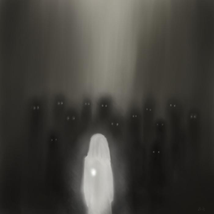 Немного теней Художник-Самоучка, Цифровой рисунок, Готика, Люди, Учусь рисовать