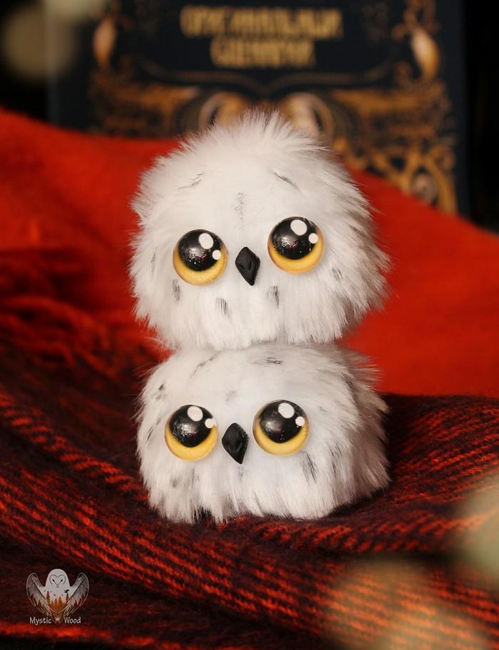 Шарико-полярные совушки Сова, Рукоделие без процесса, Ручная работа, Гарри Поттер, Длиннопост