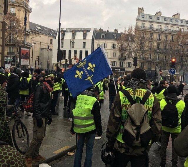 """Настроение: """"Надоело всё, возвращаем Бурбонов!"""" Франция, Протесты во Франции, Желтые жилеты, Королевство, Протест"""