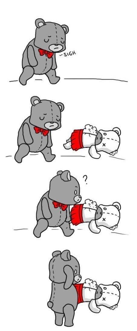 Грустная история Мишки Комиксы, Грусть, Грустное, Мишки, Отношения, Любовь, Длиннопост