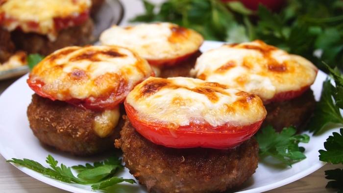 Котлеты с помидорами и сыром Котлеты, Рецепт, Видео рецепт, Видео