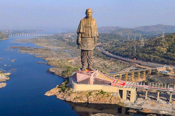 Статуя Единства (самая высокая статуя мира) Длиннопост, Индия, Туризм, Статуя, Рекорд