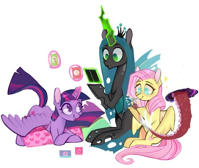 Карточная игра My Little Pony, Twilight Sparkle, Discord, Fluttershy, Queen Chrysalis