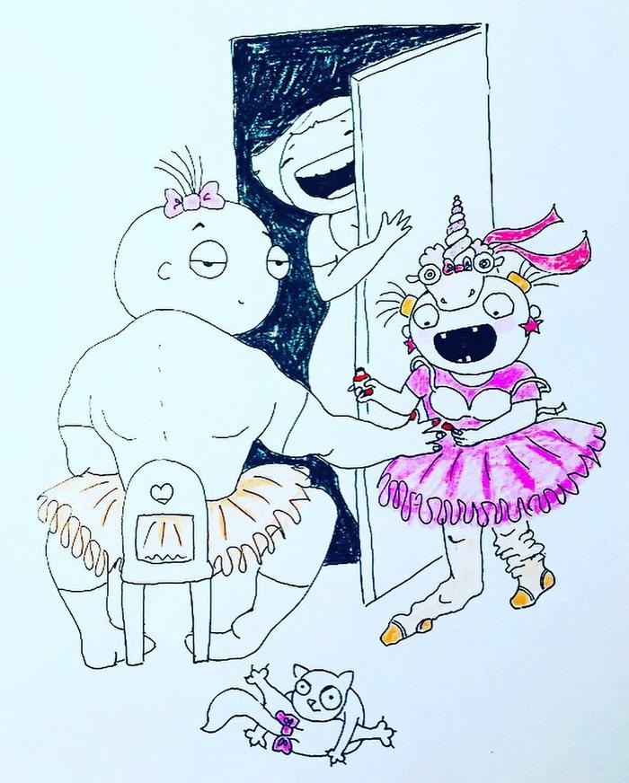 Отец Рисунок, Комиксы, Отец, Дочь, Длиннопост