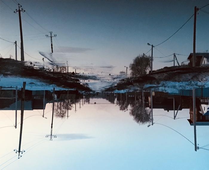 Огромная лужа) Самара, Лужа, Дорога, Поселок, Фотография