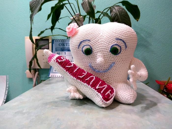Зубки. Пятничный тег моё, Рукоделие, Вязание крючком, Зубы, Фотография, Длиннопост