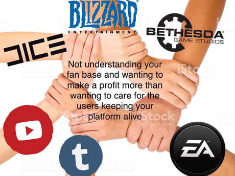 Современные компании. Blizzard, EA games, Bethesda, Tumblr, Youtube, DICE