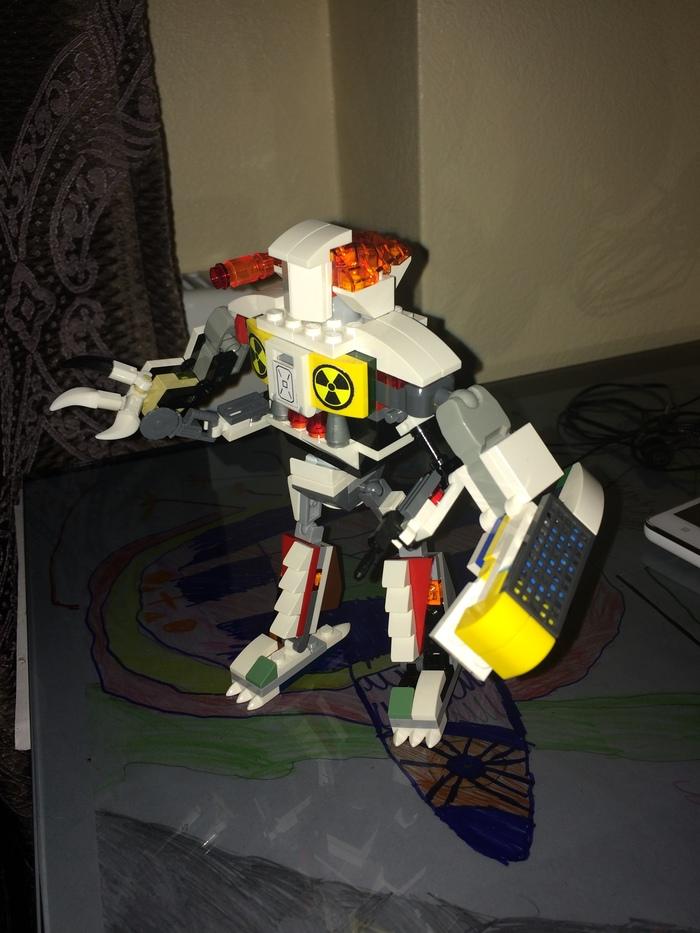 Сын попросил собрать робота из лего Лего робокоп, На скорую руку, Длиннопост