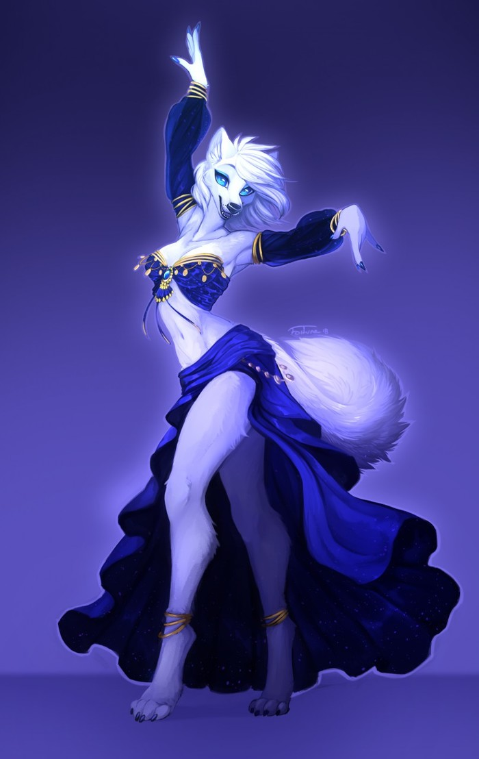 Танец живота Fortuna, Фурри, Арт, Танец, Волк