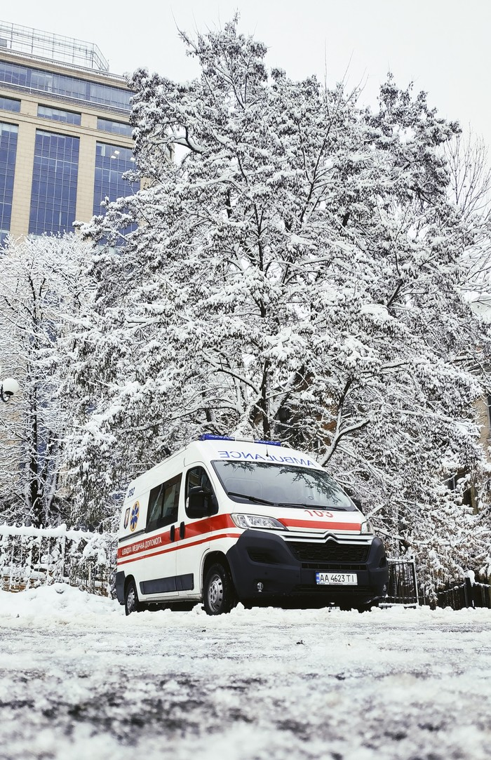 Гончая здоровья Мобильная фотография, Начинающий фотограф, Скорая помощь, Зима, Снег