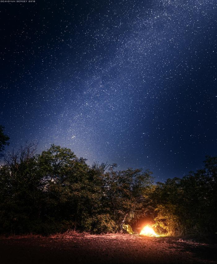 Звездный август) Астрофото, Млечный путь, Ночь, Пейзаж, Фотография, Лето, Палатка, Своя атмосфера