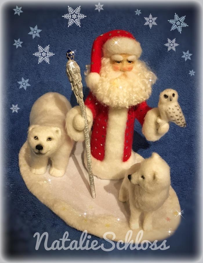 Дед Мороз или гномы?) Новый Год, Хобби, Рукоделие без процесса, Сухое валяние, Конкурс, Дед Мороз, Длиннопост