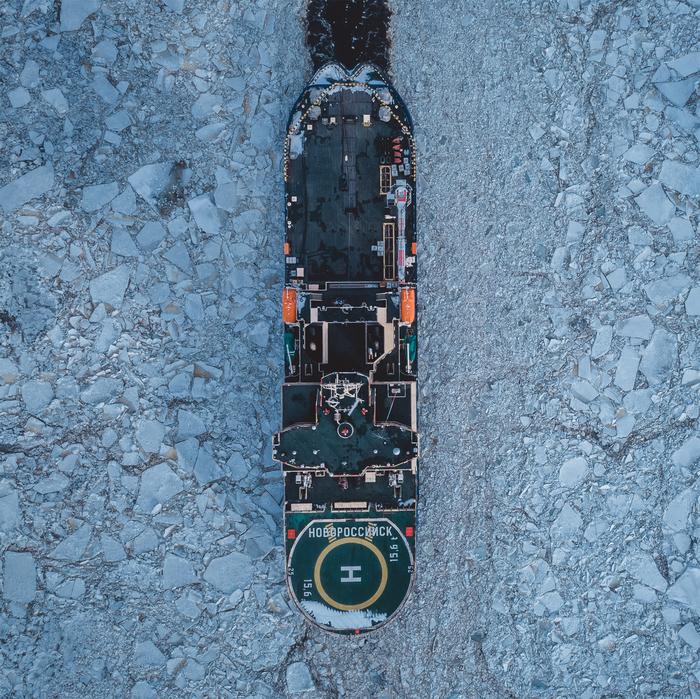 «Новороссийск» — российский дизель-электрический ледокол Квадрокоптер, Ледокол, Новороссийск, Фотография