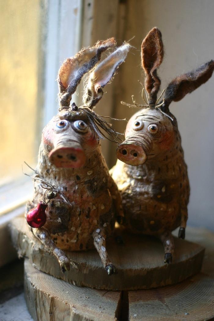 Хрюндели) Своими руками, Очень скоро Новый год, Свинка, Мастерство