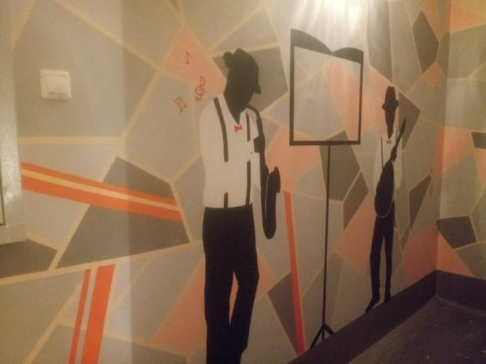 Захотелось поделиться Подъезд, Начинающий художник, Стена, Рисунок на стене, Творчество, Длиннопост