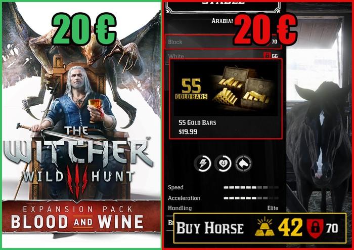 Что бы вы выбрали за 20$ и 20 евро? Red Dead Redemption 2, Skyrim, The Elder Scrolls V: Skyrim, The Elder Scrolls, Игры, Донат, Юмор, Ведьмак 3
