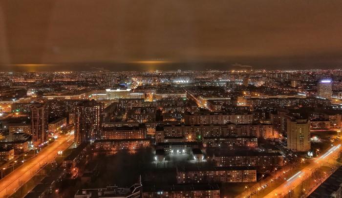 145 метров над Питером Санкт-Петербург, Вид с высоты, С высоты птичьего полета, Башня, Город, Длиннопост