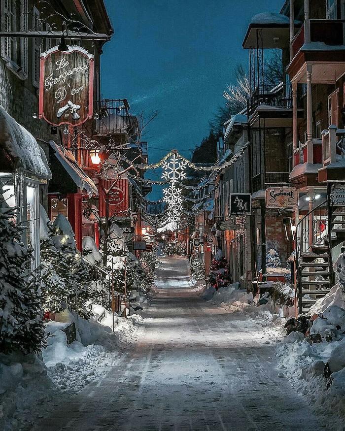 Зимний Квебек, Канада