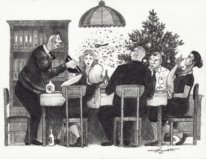 """Салат """"Салют' Рисунок карандашом, Рисунок, Корпоратив, Новый Год, Салат, Салют"""
