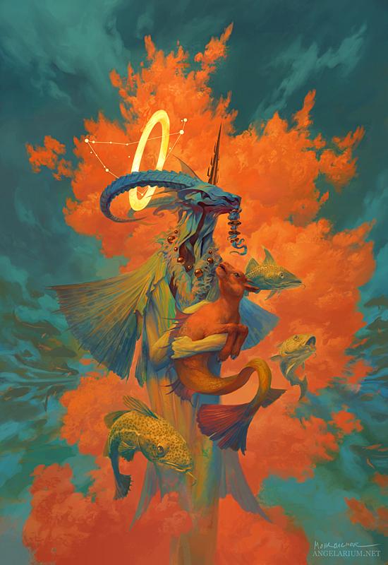 Ангелы знаков зодиака. Ангел, Арт, Первый длиннопост, Длиннопост, Знаки зодиака