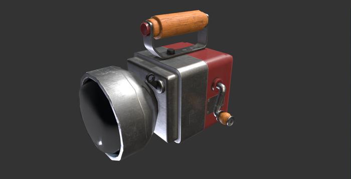 3D Модель динамо-фонаря [Free] Халява, Blender, 3D, Free, Скачивание, Gamedev