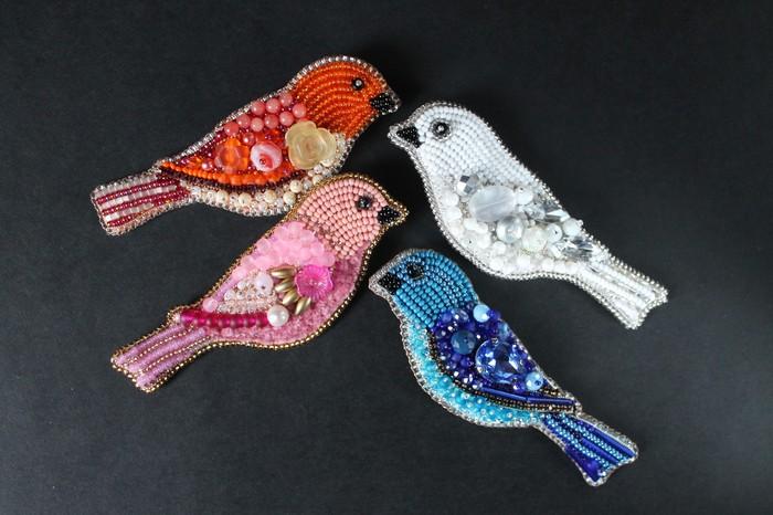 Птички и не только Hikupta, Брошь, Рукоделие без процесса, Зимородок, Птицы, Бантик, Длиннопост