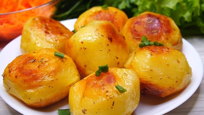 Картофель в духовке с хрустящей корочкой Картофель, Рецепт, Видео рецепт, Видео, Еда