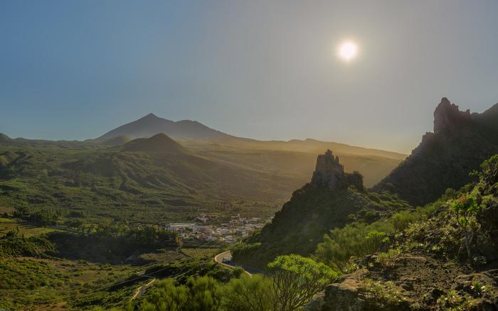 Рассвет на Тенерифе Канарские острова, Маска, Тейде, Рассвет, Туман, Горы, Фотография