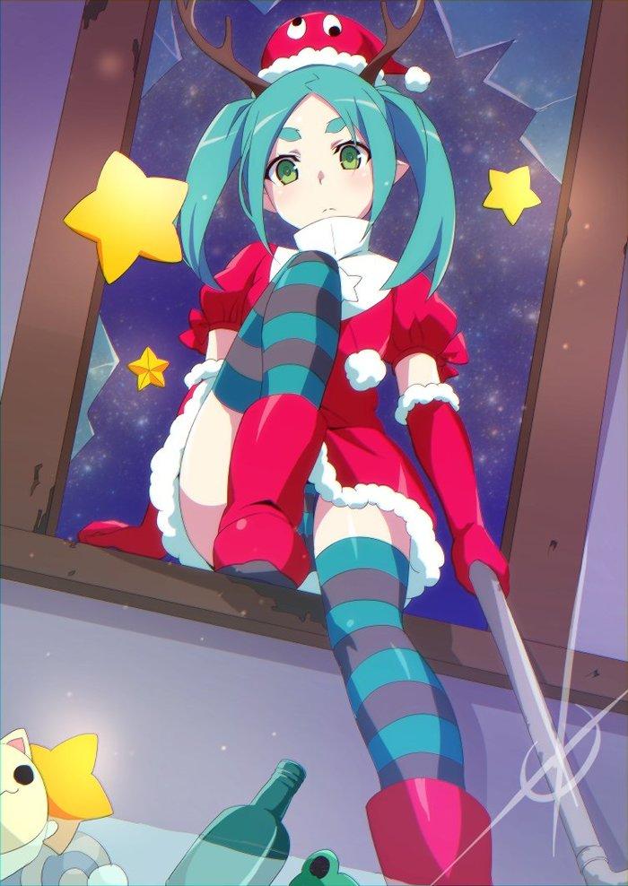 Кукла пришла поздравить тебя с рождеством Аниме, Anime Art, Monogatari series, Yotsugi Ononoki