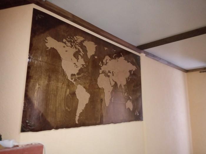 Немного географии на стену Карта мира, Рукоделие без процесса, Своими руками, Длиннопост