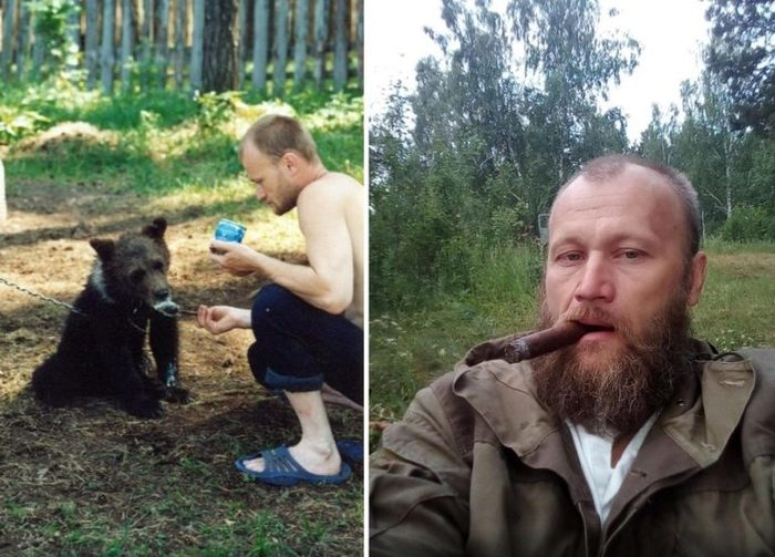 В России охотника убил и съел медведь, которого он ранее спас и вырастил Медведь, Убийство, Хищник, Длиннопост, Негатив