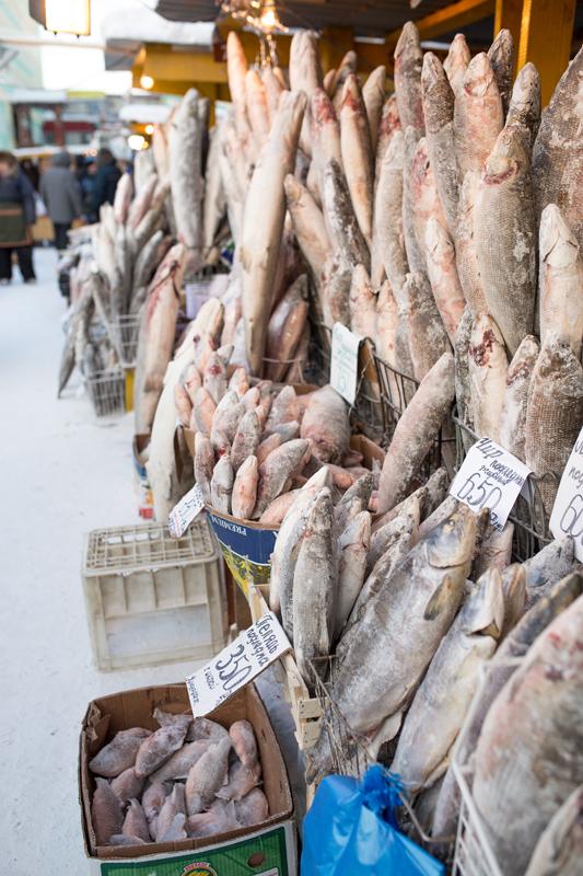 Рыбный рынок в Якутии Якутия, Рынок, Крестьянский, Якутск, Зима, Очень скоро Новый год, Длиннопост, Видео