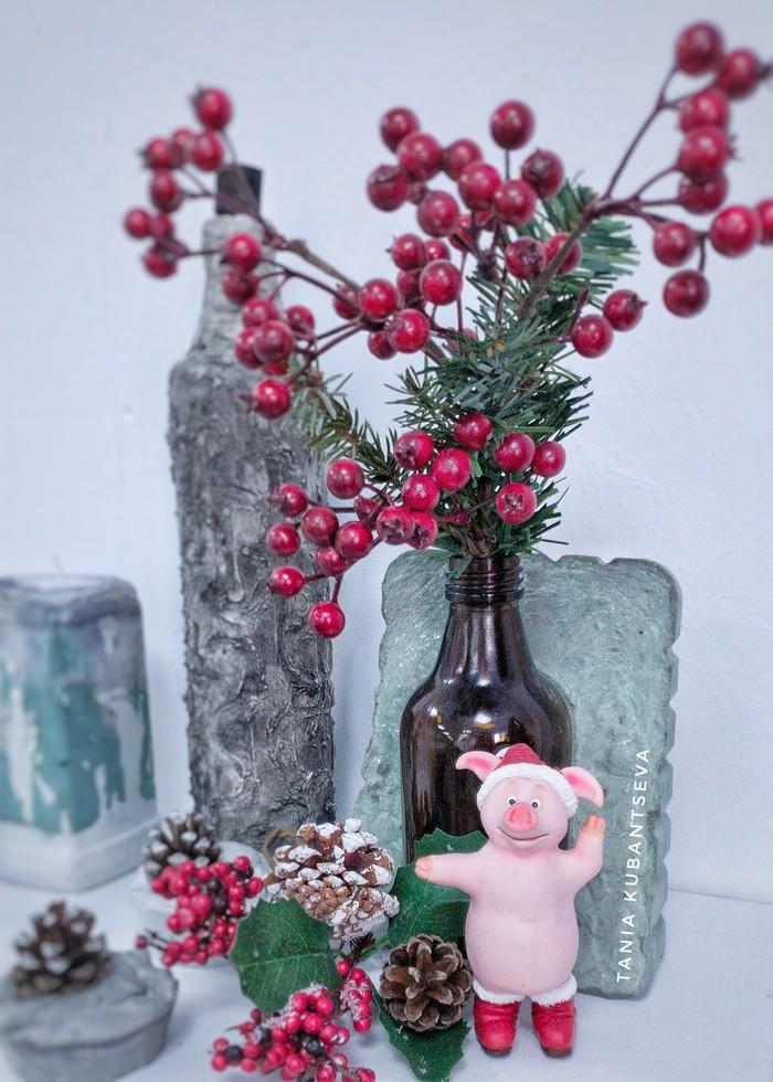 Фигурка Новогодняя веселая свинка из полимерной глины. Новый Год, Полимерная глина, Рукоделие без процесса, Фигурка, Свинка, Длиннопост