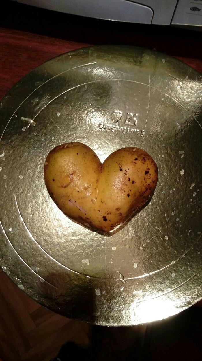 Немного романтики... Картошка любви, Сердце, Романтика