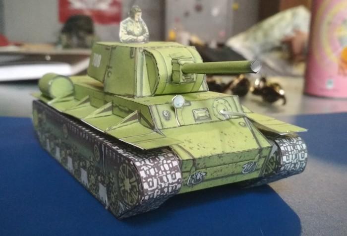 Танк своими руками? Легко Танки, Танкист, Кв-1, Моделизм, Модель, Модель танка, Papercraft, Своими руками, Длиннопост