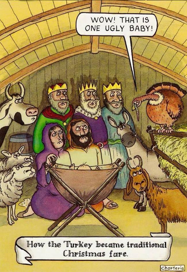 Как индейка стала традиционным рождественским блюдом. Рождество, Новый Год, Индейка, Reddit