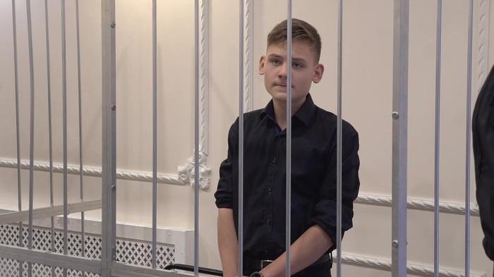 """В петербургской школе прошел """"учебный суд"""" - с прокурором, приставами и клеткой для ученика Школа, Школьники, Суд, Длиннопост"""