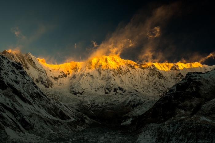 Космос над Аннапурной The National Geographic, Фотография, Горы, Непал, Гималаи