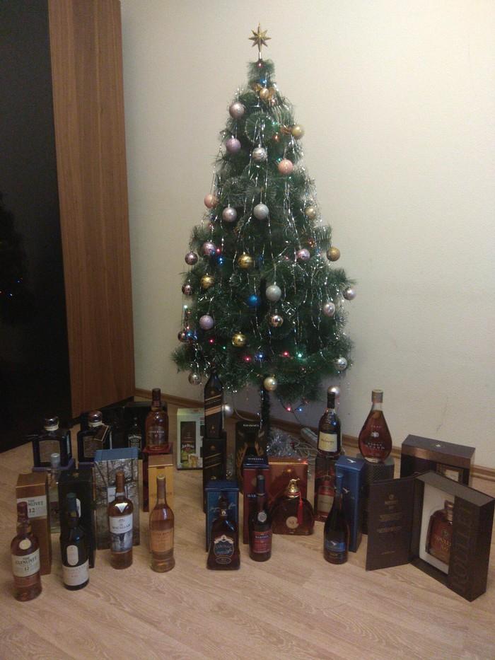 Ёлка пикабушника-2 Новогодняя елка, Сильные и независимые, Алкоголь, Виски, Коньяк, Текила, Длиннопост