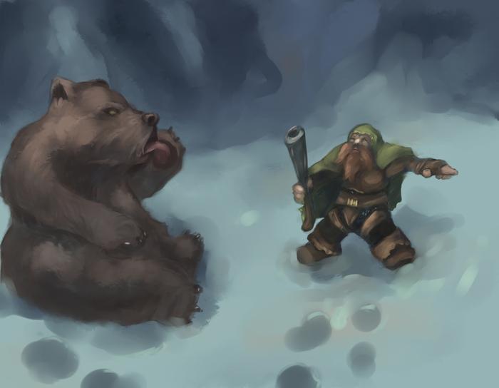 Ленивый медведь