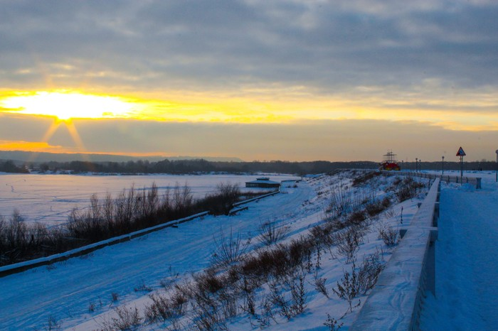 Закат на набережной Дзержинск, Закат, Фотография, Canon 1300d, 18-55 kit, Длиннопост