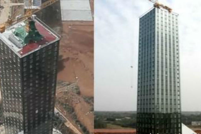 Бешеная стройка: в Китае построили 30 этажный отель за 2 недели Китай, Отель, Строительство, Видео, Длиннопост